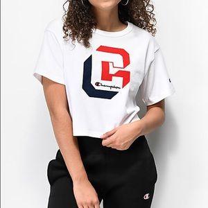 Champion Shadow C White Crop T-Shirt